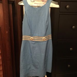 Lilly Pulitzer blue and gold dress